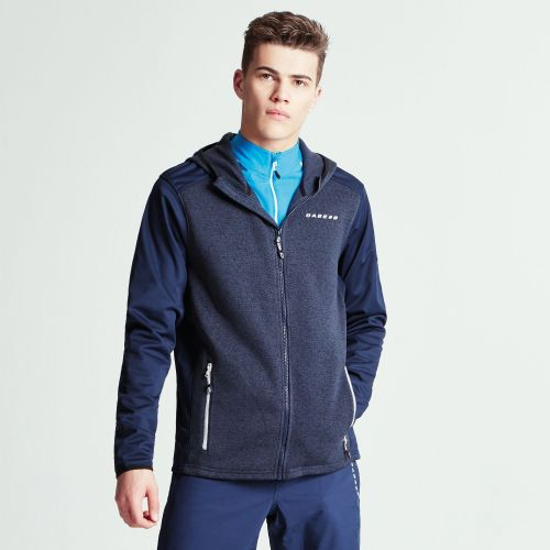 Dare2b MEN'S IGNEOUS SOFTSHELL HYBRID HOODIE - Outerspace Blue Marl